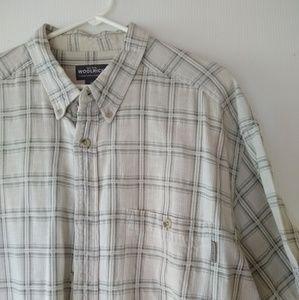 Woolrich • men's XXL plaid short sleeve shirt